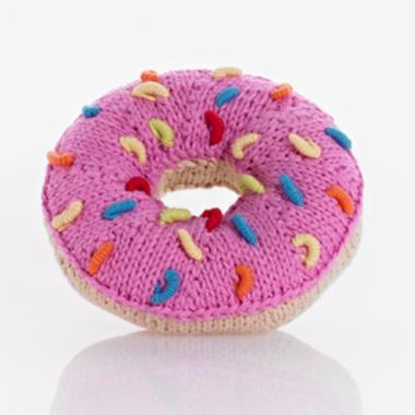 Pebble Rattle - Pink Donut - Rattle - Growing Co. Kids Eco Store