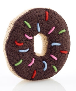 Pebble Rattle - Chocolate Donut - Rattle - Growing Co. Kids Eco Store