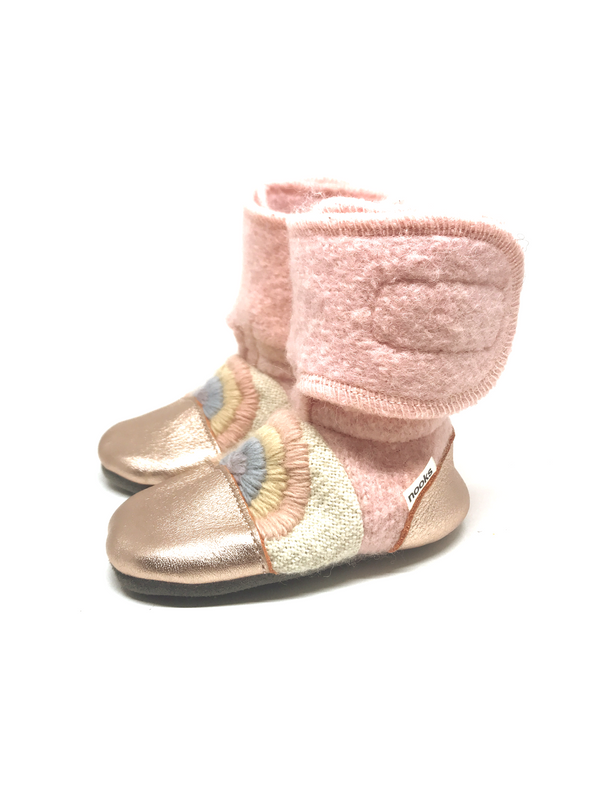 Nooks Wool Booties (Love Child) - Bootie - Growing Co. Kids Eco Store