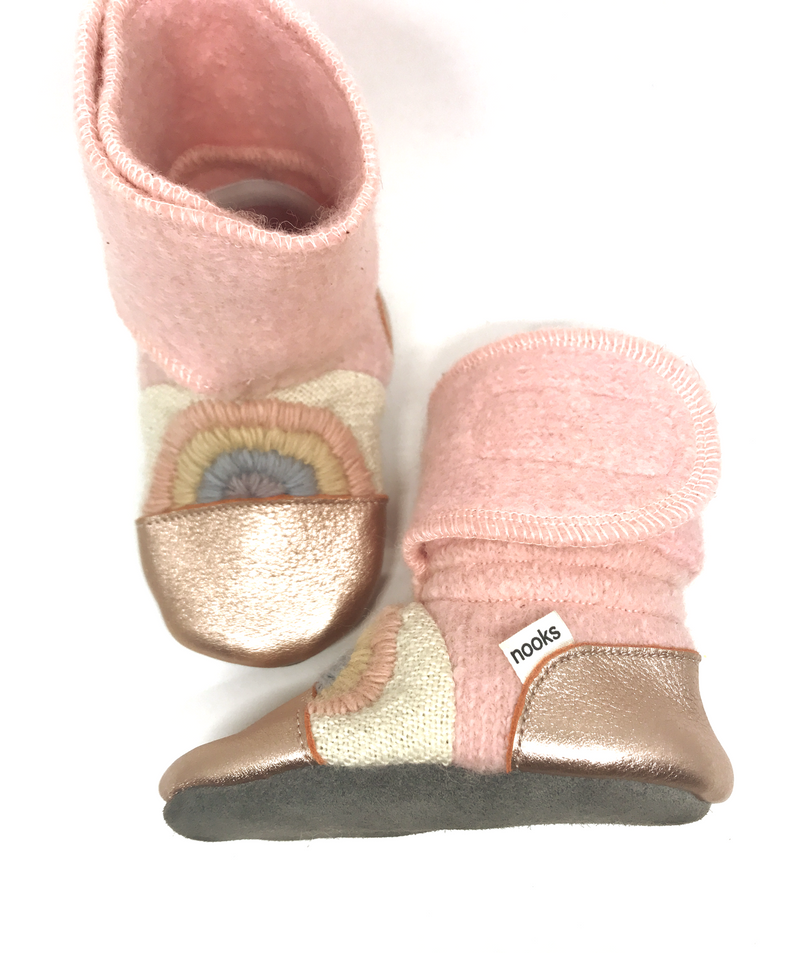 Nooks - Wool Booties - Love Child - Bootie - Growing Co. Kids Eco Store