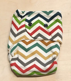 One Love Diaper Co. - Wool In One Hybrid Diaper - Chevron - Diapers - Growing Co. Kids Eco Store