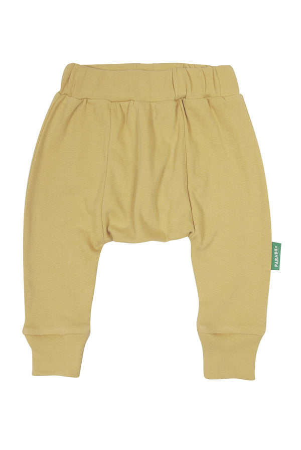 Parade Organics - Harem Pants - Mustard - Growing Co. Kids Eco Store
