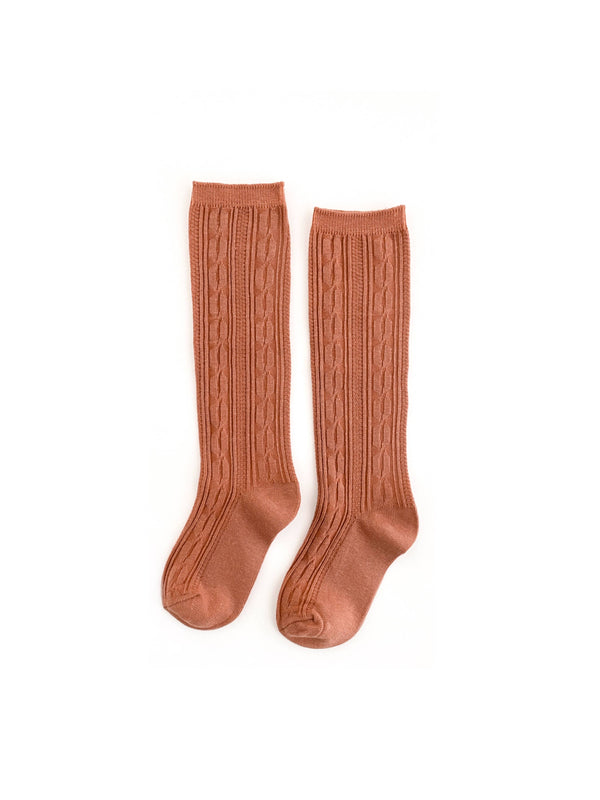 Marmalade Cable Knit Knee Highs - Growing Co. Kids Eco Store
