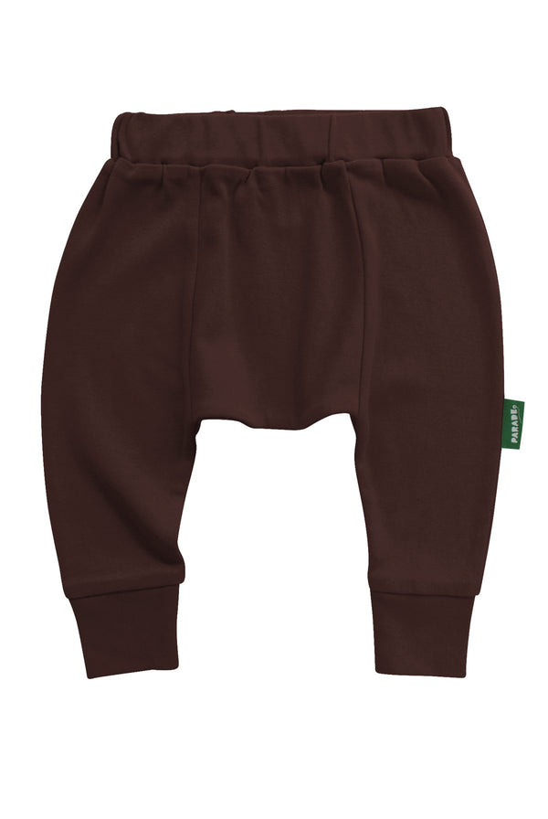 Parade Organics - Harem Pants - Chocolate - Growing Co. Kids Eco Store