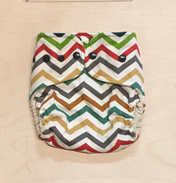 One Love Diaper Co. - One-Size Wool Diaper Cover - Chevron - Diapers - Growing Co. Kids Eco Store