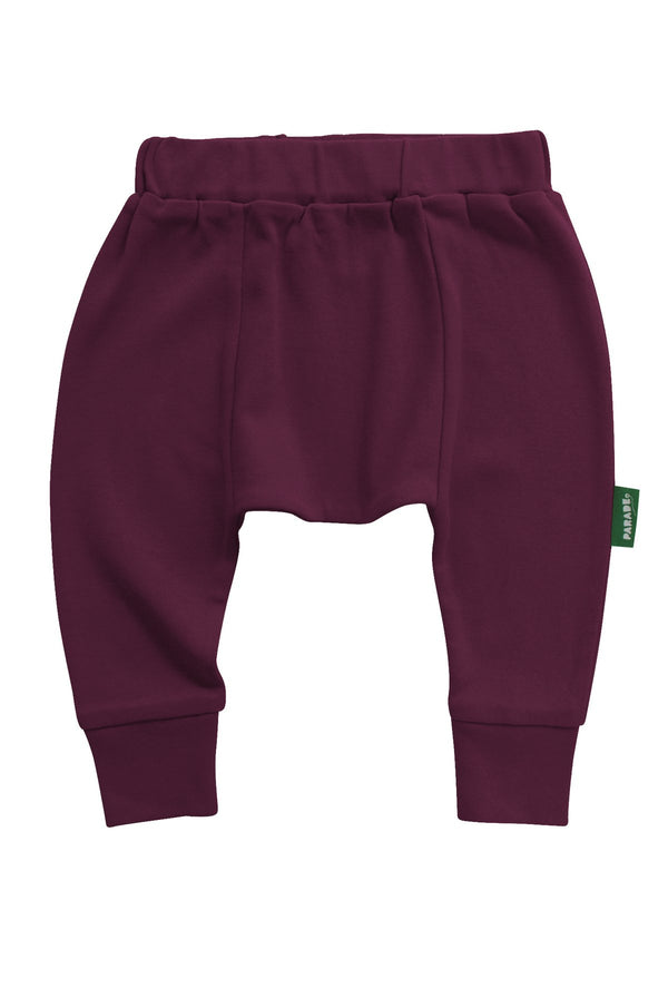Parade Organics - Harem Pants - Wine - Growing Co. Kids Eco Store