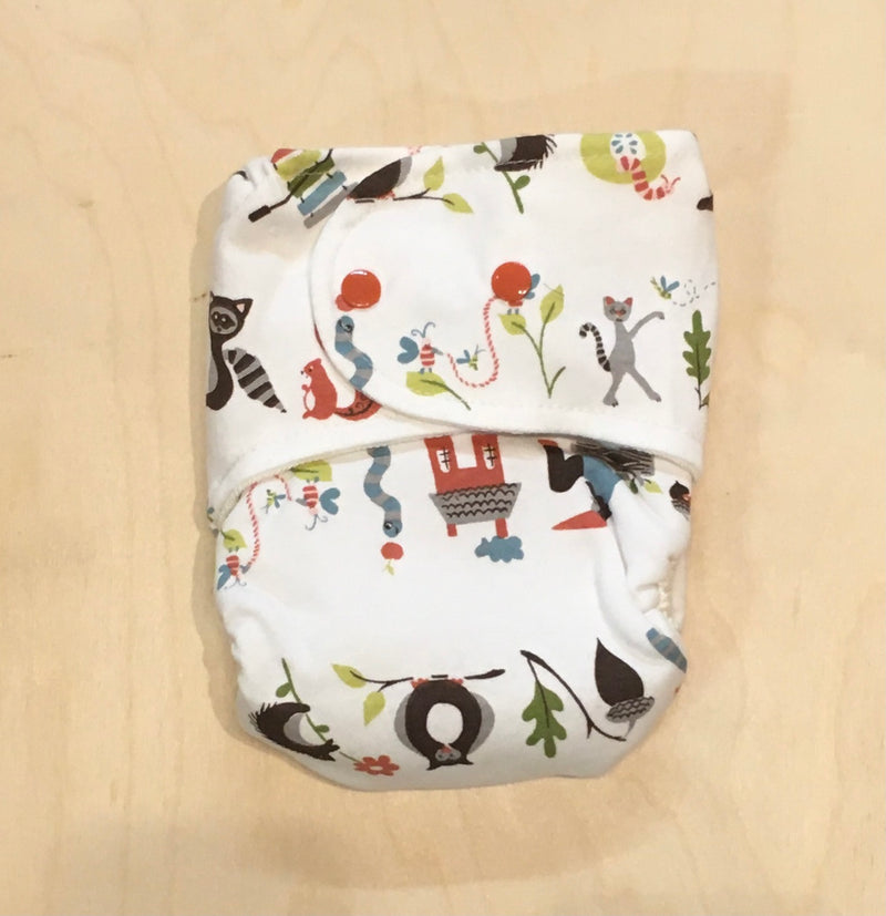 One Love Diaper Co. - Wool In One Hybrid Diaper - A Is For Apple - Diapers - Growing Co. Kids Eco Store