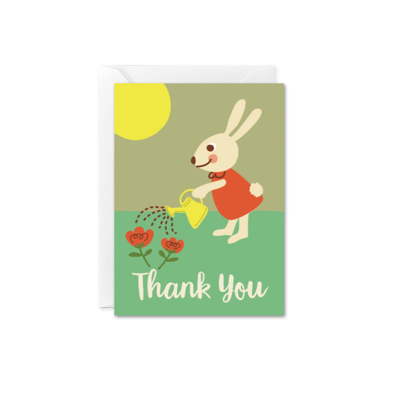 The Beautiful Project - Mini Enclosure Card - Thank You Garden Bunny - Greeting Card - Growing Co. Kids Eco Store