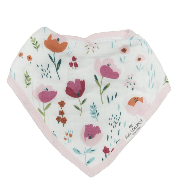 Loulou Lollipop - Bib Set of 2 - Rosey Bloom - Bandana Bib - Growing Co. Kids Eco Store