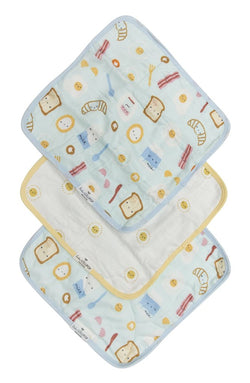 Loulou Lollipop - Wash Cloth Sets (Blue Breakfast) - Washcloths - Growing Co. Kids Eco Store