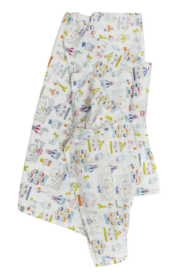 Loulou Lollipop - Swaddle (Carnival Fun) - Swaddle - Growing Co. Kids Eco Store