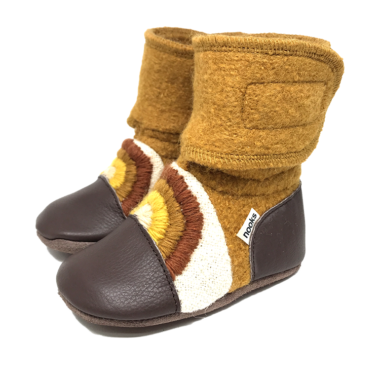 Nooks Wool Booties (Chase the Sun) - Bootie - Growing Co. Kids Eco Store
