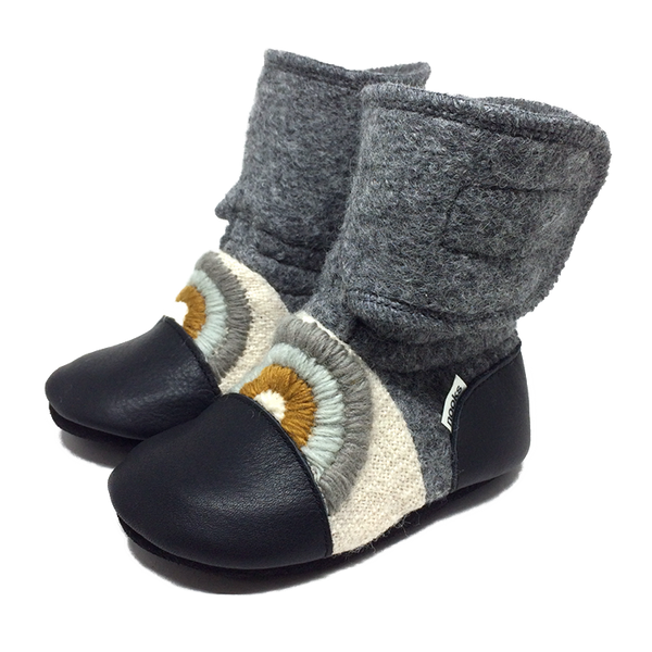 Nooks Wool Booties (Cove) - Bootie - Growing Co. Kids Eco Store