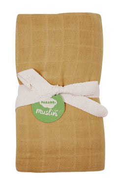 Parade Organics - Bamboo Muslin Swaddle - Gold - Blanket - Growing Co. Kids Eco Store