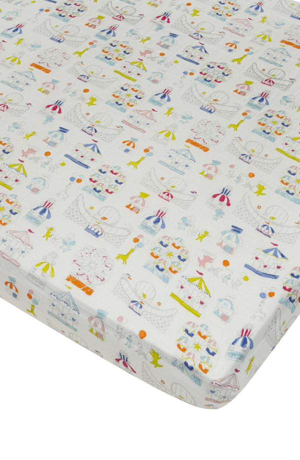 Loulou Lollipop - Crib Sheet - Carnival Fun - Growing Co. Kids Eco Store