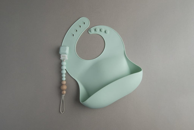 Loulou Lollipop - Silicone Bib - Mint - Silicone Bib - Growing Co. Kids Eco Store