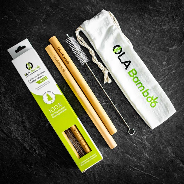 OLA Bamboo - Smoothie Straws - Bamboo Straws - Growing Co. Kids Eco Store