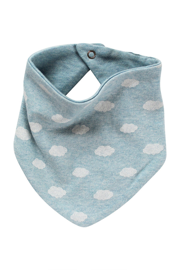 Parade Organics - Bandana Bib (Blue Clouds) - Bandana Bib - Growing Co. Kids Eco Store