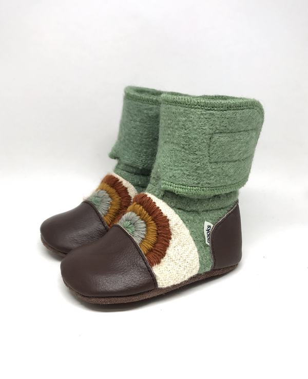Nooks Wool Booties (Good Vibes) - Bootie - Growing Co. Kids Eco Store