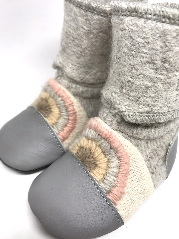 Nooks Wool Booties (Rainbow Moon) - Bootie - Growing Co. Kids
