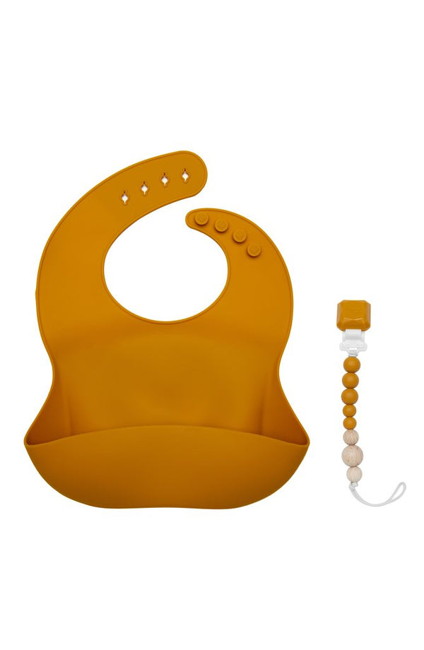 Loulou Lollipop - Silicone Bib - Golden Glow - Silicone Bib - Growing Co. Kids Eco Store