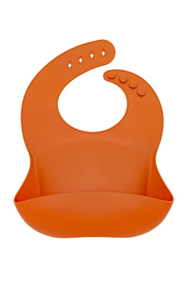 Loulou Lollipop - Silicone Bib - Burnt Orange - Growing Co. Kids Eco Store