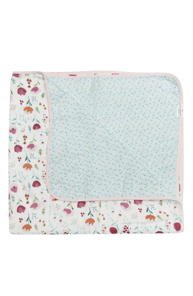 Loulou Lollipop - Muslin Quilt - Rosey Bloom - Quilt - Growing Co. Kids Eco Store