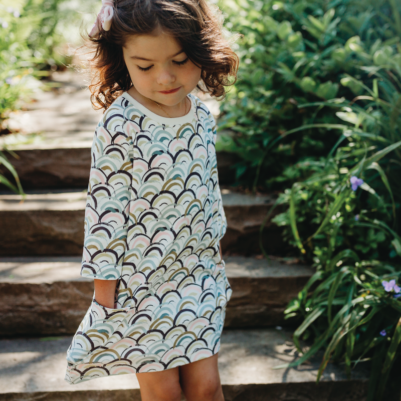 Tunic Dress - Rainbows - Growing Co. Kids Eco Store