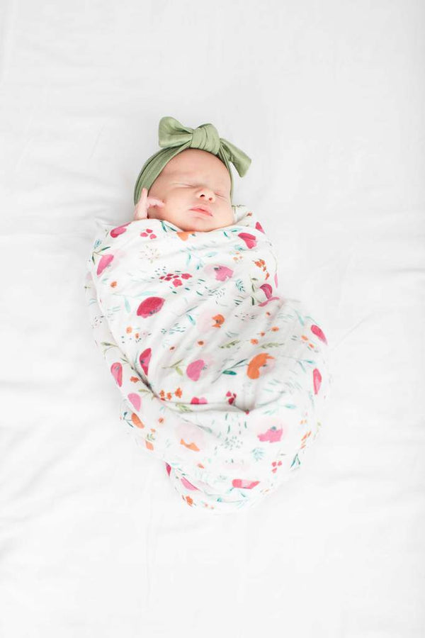 Loulou Lollipop - Swaddle - Rosey Bloom - Swaddle - Growing Co. Kids Eco Store