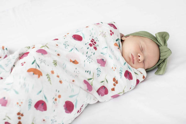 Loulou Lollipop - Swaddle (Rosey Bloom) - Swaddle - Growing Co. Kids Eco Store