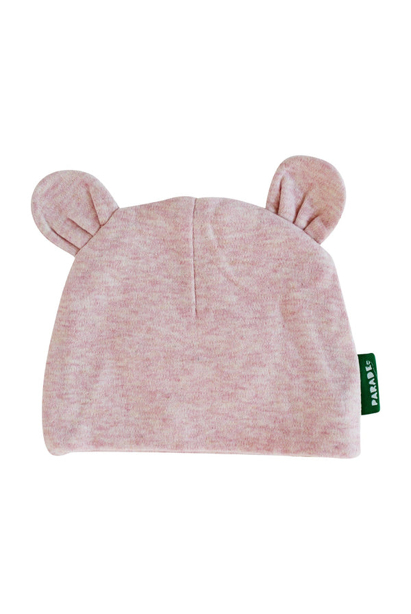 Parade Organics - Bear Hat - Melange Pink - Hat - Growing Co. Kids Eco Store
