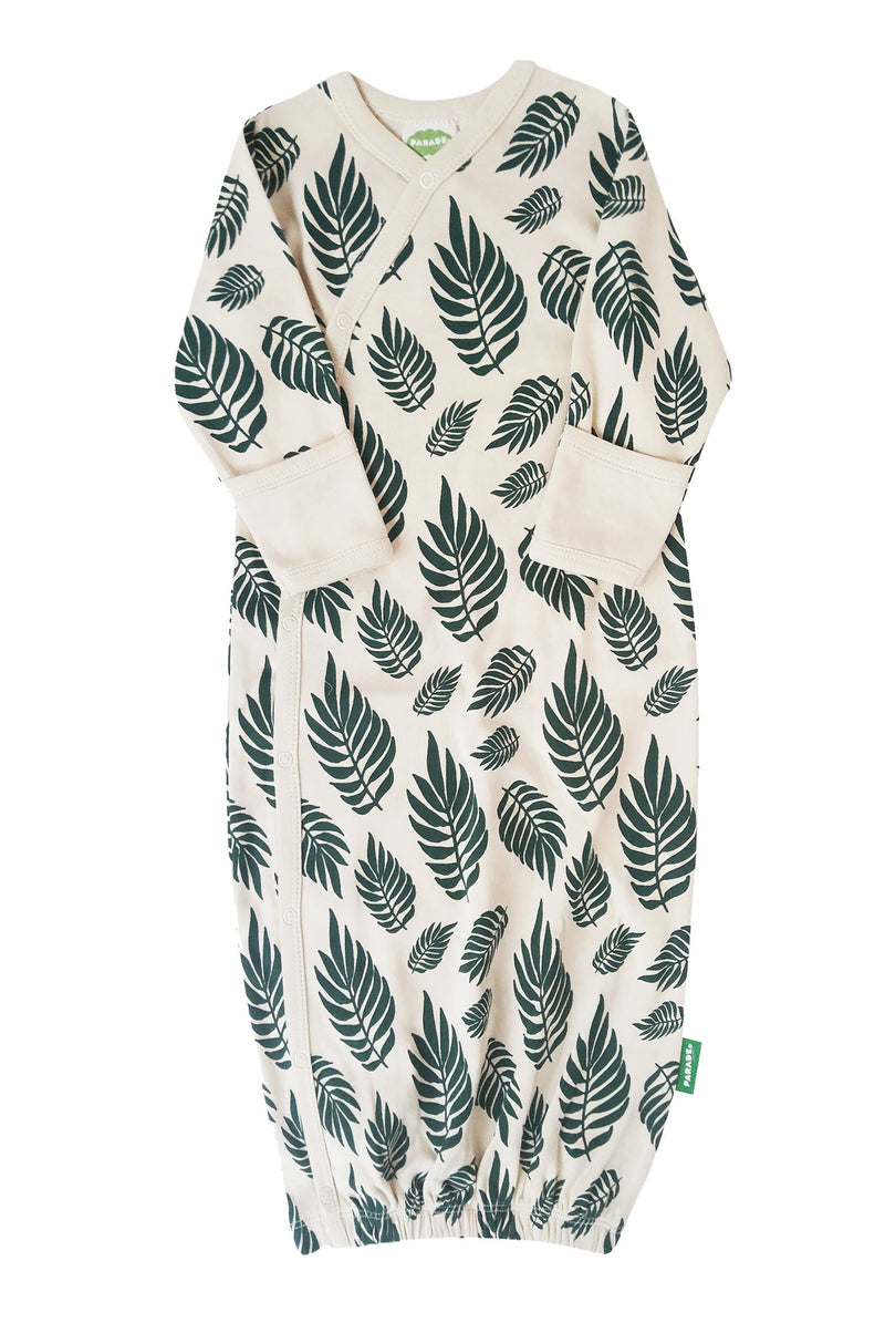 Parade Organics - Kimono Gown (Palm) - Sleeping Gown - Growing Co. Kids Eco Store