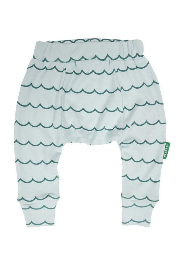 Parade Organics - Harem Pants - Big Blue Wave - Harem Pants - Growing Co. Kids Eco Store