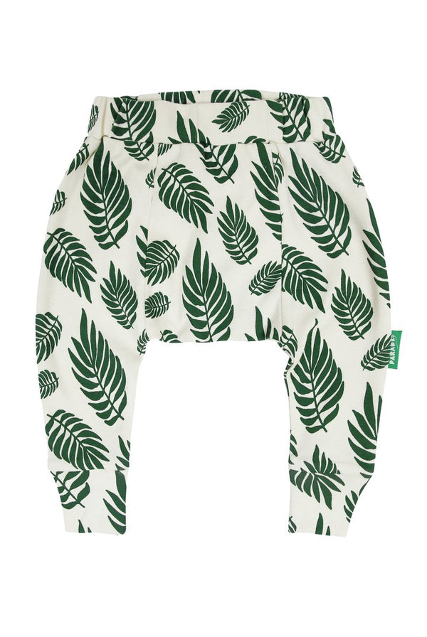 Parade Organics - Harem Pants - Green Leaves - Harem Pants - Growing Co. Kids Eco Store