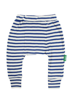 Parade Organics - Harem Pants - Breton Stripe/Cobalt - Harem Pants - Growing Co. Kids Eco Store