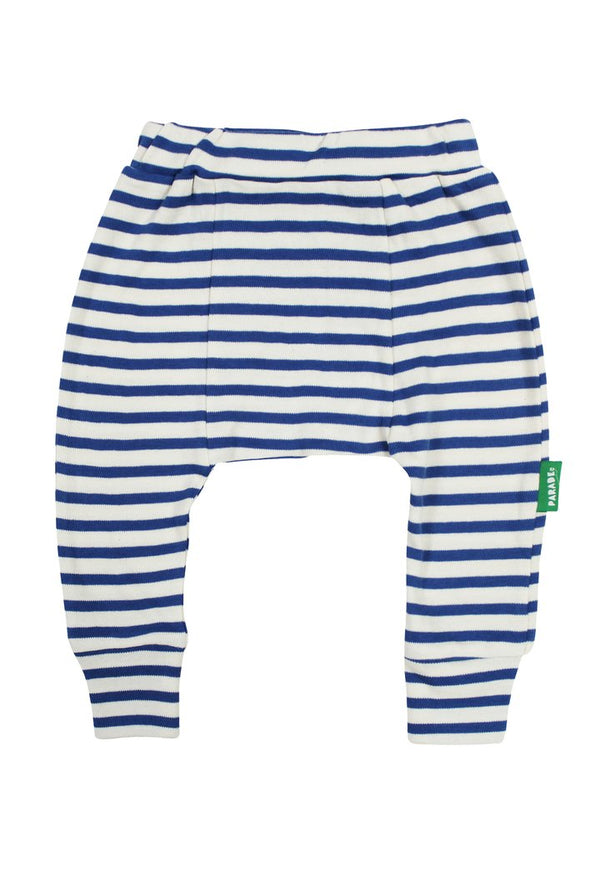 Parade Organics - Harems (Breton Stripe Cobalt) - Harem Pants - Growing Co. Kids Eco Store