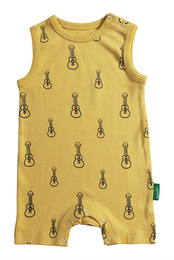 Parade Organics - Tank Romper - Ukuleles - Growing Co. Kids Eco Store