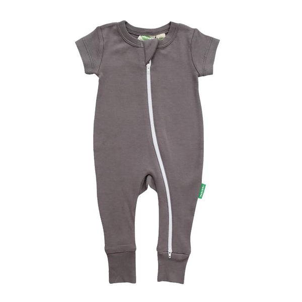 Parade Organics - Charcoal 2 way zipper romper