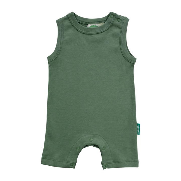 Parade Organics - Tank Romper - Essentials - Camper Green - Growing Co. Kids Eco Store