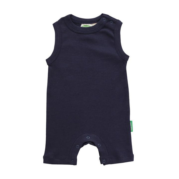 Parade Organics - Tank Romper - Essentials - Navy - Growing Co. Kids Eco Store