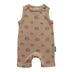 Parade Organics - Tank Romper - Rust Hedgehogs - Growing Co. Kids Eco Store