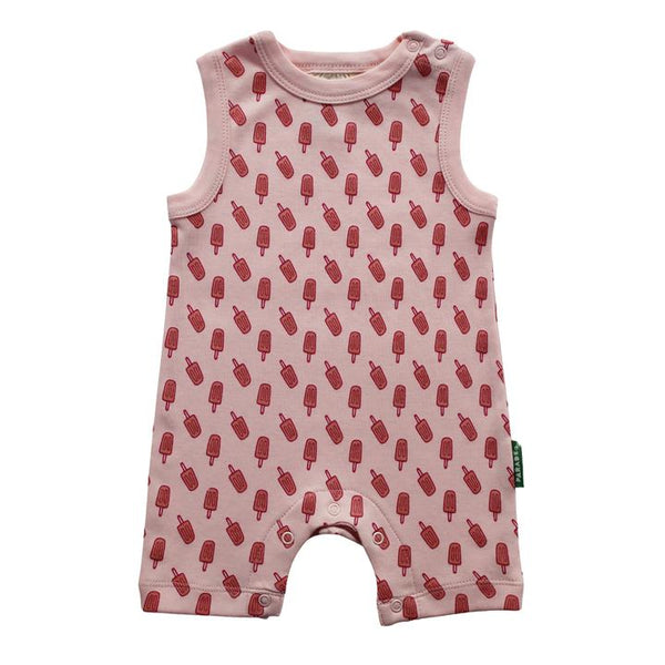 Parade Organics - Tank Romper - Pink Popsicles - Growing Co. Kids Eco Store