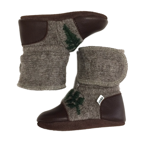 Nooks - Wool Booties - Sparrow - Bootie - Growing Co. Kids Eco Store