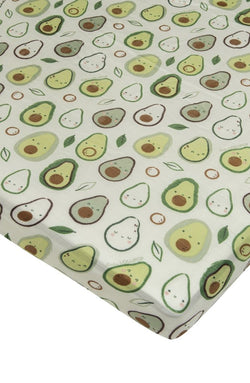 Loulou Lollipop - Crib Sheet (Avocado) - Crib Sheet - Growing Co. Kids Eco Store