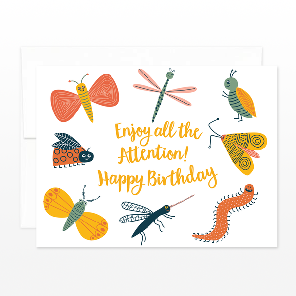 The Beautiful Project - Birthday Card - Bug Life - Growing Co. Kids Eco Store