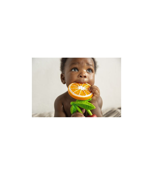 Oli & Carol - Teether - Clementino the Orange - Teether - Growing Co. Kids Eco Store