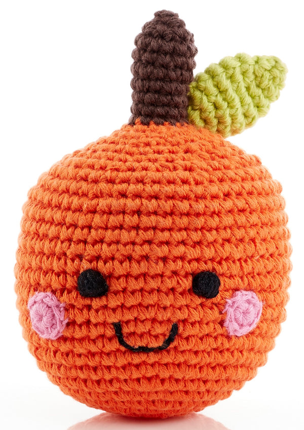 Pebble - Rattle - Happy Orange - Growing Co. Kids Eco Store