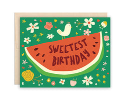 The Beautiful Project - Birthday Card - Sweetest Birthday Watermelon - Greeting Card - Growing Co. Kids Eco Store