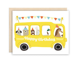 School Bus Birthday Card - Greeting Card - Growing Co. Kids Eco Store
