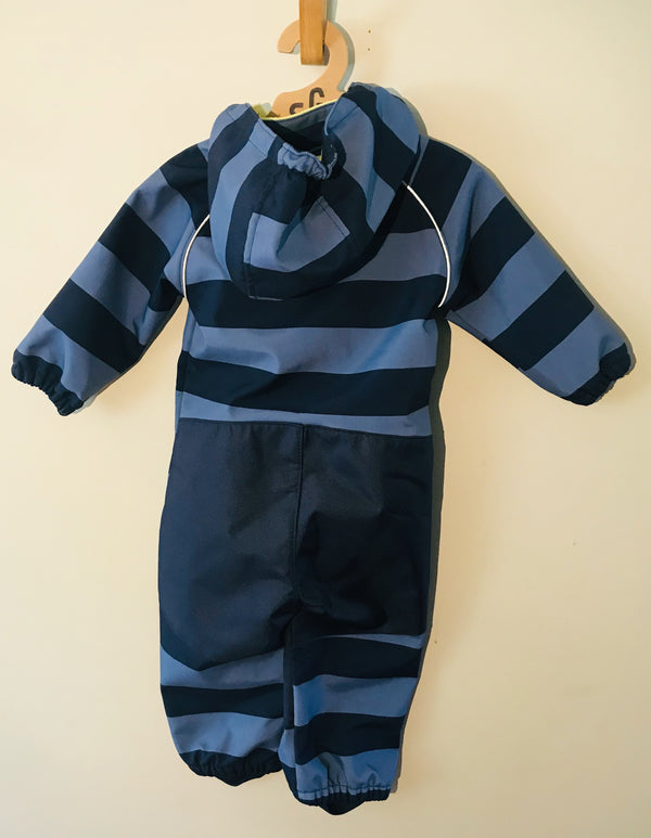 Blue Striped Snowsuit - (Baby) - Snowsuit - Growing Co. Kids